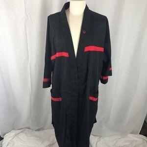 Dior Monsieur Red Black Robe W/ Belt